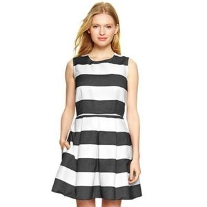 Gap White and Black Stripe Rugby Fit Dress